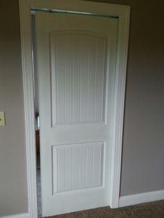Pocket door to master bathroom