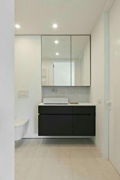 Ideas Bathroom Sink Storage Unit Floating Vanity For 2019 Bathroom Sink Storage, Floating Bathroom Vanities, Bathroom Mirror Cabinet, Floating Vanity, Mirror Cabinets, Bathroom Renos, Bathroom Interior, Modern Bathroom, Small Bathroom