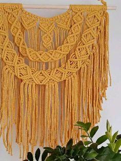 Handmade Home Decor, Handmade Items, Handmade Gifts, Wall Plant Holder, Macrame Wall Hanging Patterns, Online Gift, Decor Ideas, Gift Ideas, Modern Boho