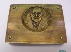 Pasarel - William Somerset Maugham Rectangular Brass Stamp Box, Germany, Ca 1940. $375.00