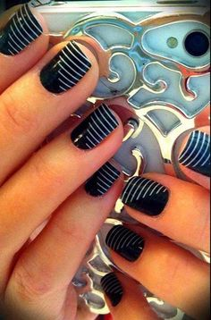 Monochrome nail art #nailart #nails #womentriangle