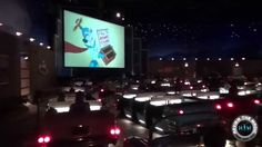 Drive in theater dining (day or night) in Walt Disney worlds Sci-Fi Dine in Theater at hollywood studios ... The ceiling is filled with twinkling stars, and you sit in a 60's style car while watching a disney movie during your meal .... Feels like you're really outside at a drive inn theater :)  ~Crystaline