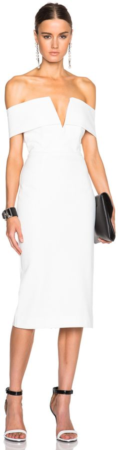 NICHOLAS Shoulder Band V Dress