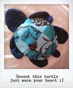 Sew Says You . . .: Turtle Wheat bag / Heat pad