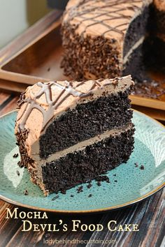 For JASON! This Mocha Devil's Food Cake is simply the best chocolate cake ever! I added espresso powder to give this chocolate cake its mocha flavor. You can leave Cupcakes, Cookies Cupcake, Cupcake Cakes, Just Desserts, Delicious Desserts, Yummy Food, Cupcake Recipes, Dessert Recipes, Best Chocolate Cake