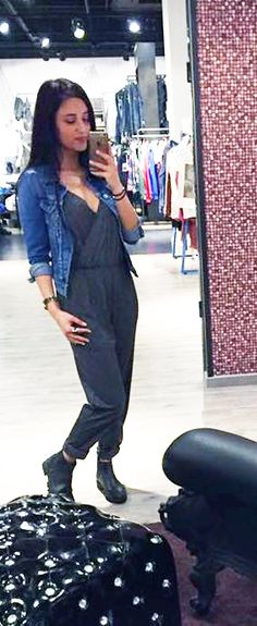 Outfit der Woche! Jumpsuit & Jeansjacke: Pepe Jeans – Boots: Replay #fashion #ootw