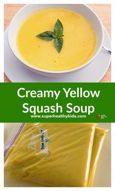 Creamy Yellow Squash Soup - How to turn your garden full of squash into soup in 3 easy steps Summer Squash Soup, Yellow Squash Soup, Summer Squash Recipes, Vegan Yellow Squash Recipes, Veggie Recipes, Fall Recipes, Soup Recipes, Cooking Recipes, Healthy Recipes