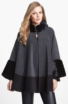 Have loved capes ... ALWAYS! Lucky me! This year they are IN! *** Parkhurst 'Mosaic' Cape | Nordstrom