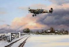 Image result for paintings of spitfires in the snow