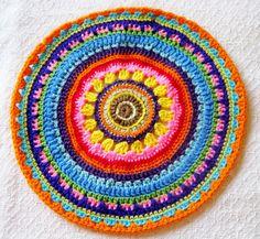 Crochet Mandala Doily Center Piece Table by MyLittleShoppette,