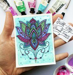 Divine Lotus Print  ACEO size