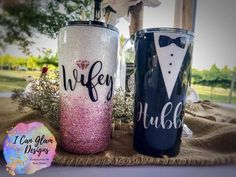 Diy Tumblers, Personalized Tumblers, Custom Tumblers, Glitter Tumblers, Wedding Cups, Wedding Gifts, Wedding Ideas, Tumblr Cup, Glitter Cups