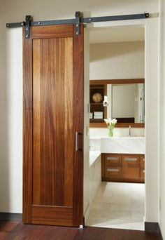 7 Alert ideas: Bathroom Remodel Walls Walk In bathroom remodel small with window.Tiny Bathroom Remodel Closet mobile home bathroom remodel master Bathroom Remodel House. Bathroom Doors, Small Bathroom, Master Bathroom, Bathroom Ideas, 1950s Bathroom, Paint Bathroom, Bathroom Modern, Wood Doors, Barn Doors