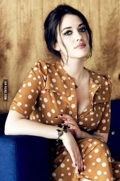 Kat Dennings I ❤everything about this look!  Beautiful! Dress is awesome  thecreampiesurprise.com