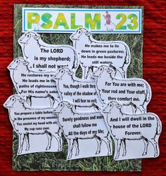 This is cool as a lesson because the kids have to put the sheep in order.. maybe they can cut out and color their own then as we go over the Psalm in class they organize.  Not sure the reading level though ??  https://docs.google.com/file/d/0B3uNEVAAKowpaktGTHlGTEtwaWs/edit?usp=sharing
