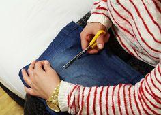 Jak zrobić poprzecieraną spódnicę>?? Odpowiedz w linku do bloga, hop!