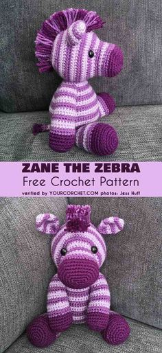 Zane the Zebra Free Crochet Pattern. The perfectly set out pattern, without the need to cut the yarn in between, allows you to make an equally beautiful crochet toy. #amigurumipattern #crochettoy #zebra