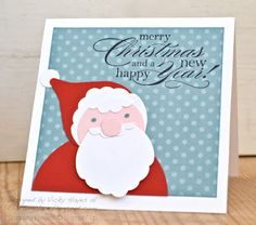 Stampin' Up ideas and supplies from Vicky at Crafting Clare's Paper Moments: My punch art santa