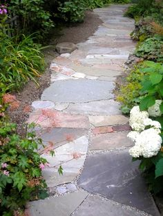 I like the different colored stones used for this path.