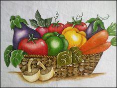 Imagini pentru legumes pintura em tecido
