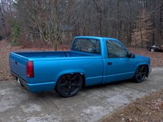 Old blue chevy truck 1992