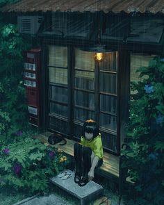 """炜炜 on Instagram: """"Color sketch~ garden """""""