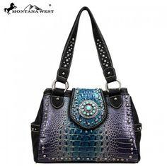 Montana West Turquoise Concho Collection Croc Handbag – Handbag Addict.com