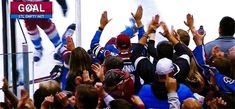 The Avs needed to win the game to get into the playoffs. This is their game winning celebration. Lol at the last player to make it over. Erik Johnson, Hockey Stuff, Colorado Avalanche, Ice Hockey, Celebration, Hat, Baseball Cards, Random, Boys