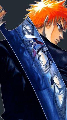 Ichigo with the reflection of his enemy in his bankai awesome Bleach Anime, Bleach Fanart, Shinigami, Bleach Characters, Anime Characters, Cowboy Bebop, Blue Exorcist, Ichigo Kurosaki Wallpaper, Anime Tatoo