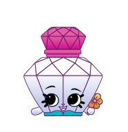 Polly Perfume Polly Perfume is an exclusive Shopkin from the Fashion Spree. She is included with Quilty Boot, Penny Purse, and Lippy in the Fashion Boutique playset.