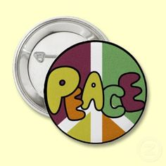 groovy peace buttons and pins ~ far out!
