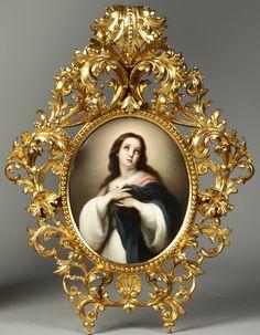 KPM porcelain plaque of Madonna Origin Germany ~ Circa 1876-1925