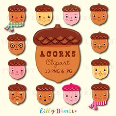 Cute Squirrel with Acorn PNG Cartoon Clipart | gif zvieratká ...