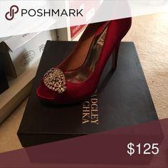 Badgley Mishcka red heels 7 worn once Badgley Mishcka red heels 7 worn once Badgley Mischka Shoes Heels