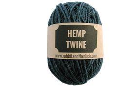 indigo hemp twine for table legs.