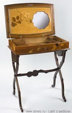 Emile Galle art nouveau dressing table