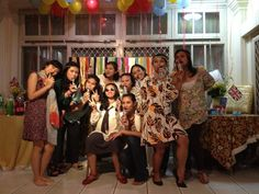 Surprise Beatles Baby Shower - John Le'mom-to be' and her hippy ladies