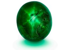 """The 25.86 carat """"Marcial de Gomar Star Emerald"""" is believed to the only double-sided star emerald in the world."""