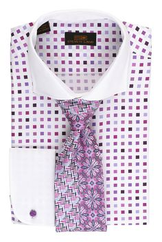 Men's fashion and lifestyle brand. Featuring the hottest new flavors in suits, shirts, shoes, ties, belts and hats. Best Dress Shirts, Dress Shirt And Tie, Shirt Tie Combo, Italian Shirts, French Cuff Dress Shirts, Shirting Fabric, Men Closet, Suit Up, Well Dressed Men