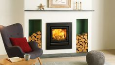 Riva 50 log burner. love the fire and the recess logs