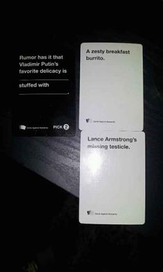 21 Hilarious, Awkward, And Painful Rounds Of Cards Against Humanity - BuzzFeed Mobile