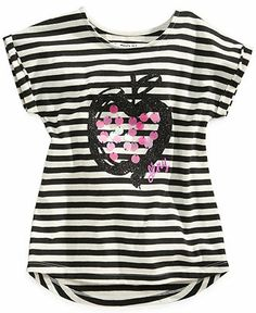 DKNY Kids T-Shirt, Little Girls Striped Tee - Kids Toddler Girls (2T-5T) - Macy's