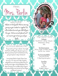 FREE template for meet the teacher! This is great to use for back to school night or the first few weeks of school!