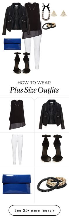 """""""plus size girls night chic in white"""" by kristie-payne on Polyvore featuring Steilmann, Label Lab, Zizzi, Isabel Marant, Weekend Max Mara, Marni, Oasis and GUESS"""
