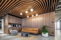 RUST Architects has realized the office design for the B. Group, an engineering firm located in Tel Aviv, Israel. Commercial Office Design, Commercial Office Furniture, Corporate Office Design, Office Space Design, Workplace Design, Healthcare Design, Office Spaces, Tel Aviv, Wooden Cladding