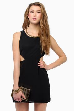 Black Sleeveless Cut Out  Dress