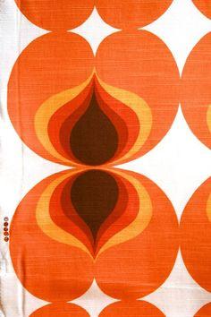 Vintage Geometric Fabric – Retro Textile by Dekoplus