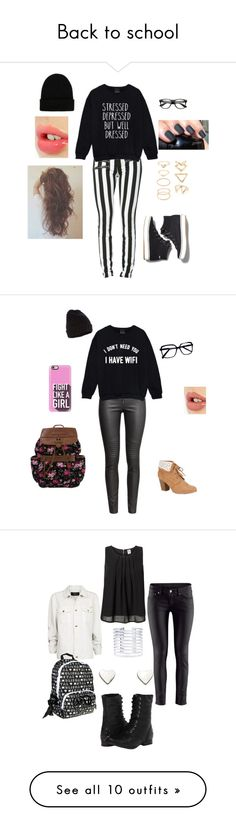 """""""Back to school"""" by selenakellylolljee on Polyvore featuring Keds, NLY Accessories, Forever 21, Charlotte Tilbury, H&M, Qupid, Accessorize, Casetify, MANGO and Vero Moda"""