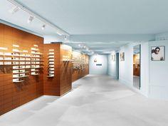 High-quality designer glasses from 175 CHF. ▶ Visit us. Minimalist Interior, Store Design, Designer, Minimalism, Interior Design, St Gallen, Architecture, Sunnies, Sunglasses