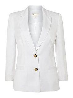 Linen mix jacket